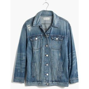 Madewell Oversized Jean Jacket Distressed Edition